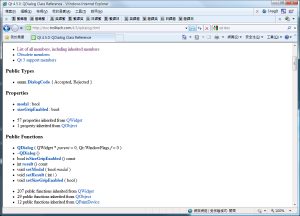 用 IE8 去看 Qt 的網頁文件 « Eternity